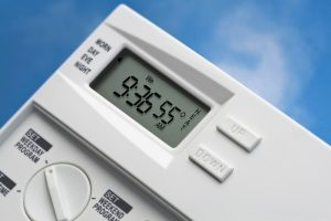 Note: 55 degrees is the energy-saving recommended heating setting for winter when you are not at home. Variations for heating and cooling when home and not home may be available.