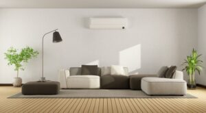 ductless-air-handler-high-up-on-wall